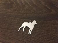 Ibizan Hound Wirehaired  Charm solid sterling silver Handmade in the Uk
